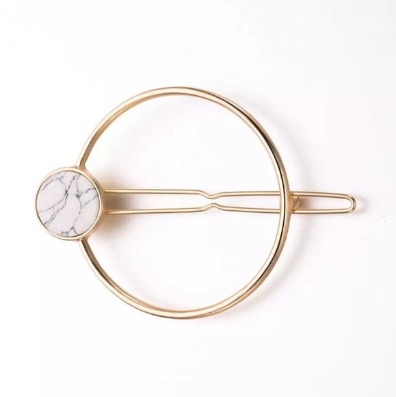 3 for $15  Gold Metal Circle Hair Clip